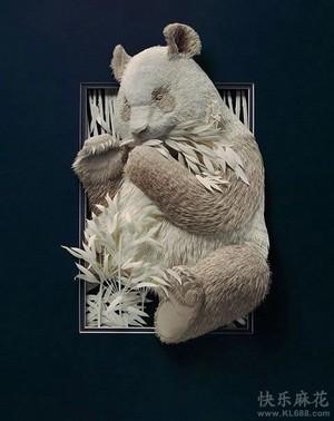精美绝伦的动物纸雕艺术