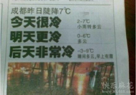 成都商报的天气预报简洁又给力!