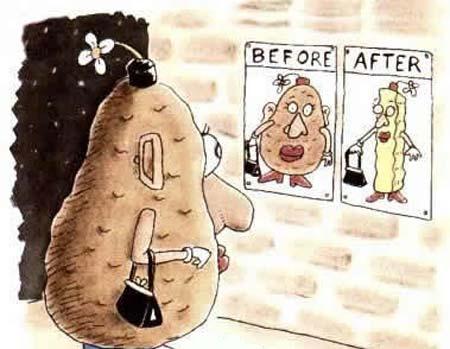 吸引土豆的瘦身广告